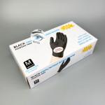 Перчатки нитрило-виниловые черные . 50 пар